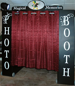 black phot booth
