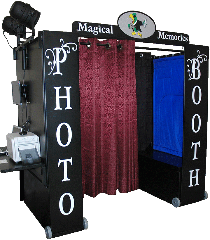 Magical Memories black Photo Booth